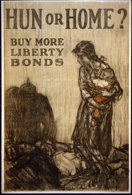 Hun or home? Buy more Liberty Bonds / Raleigh.