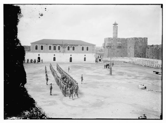 [Investiture by the Duke of Connaught, in Barracks Square, Jerusalem, March 19th, 1918]