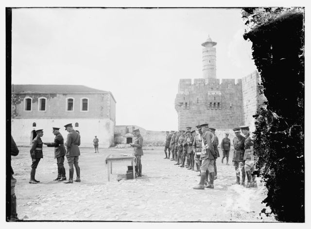 [Investiture by the Duke of Connaught, in Barracks Square. March 19th, 1918]