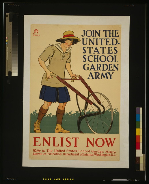 Join the United States school garden army - Enlist now / Edward Penfield.