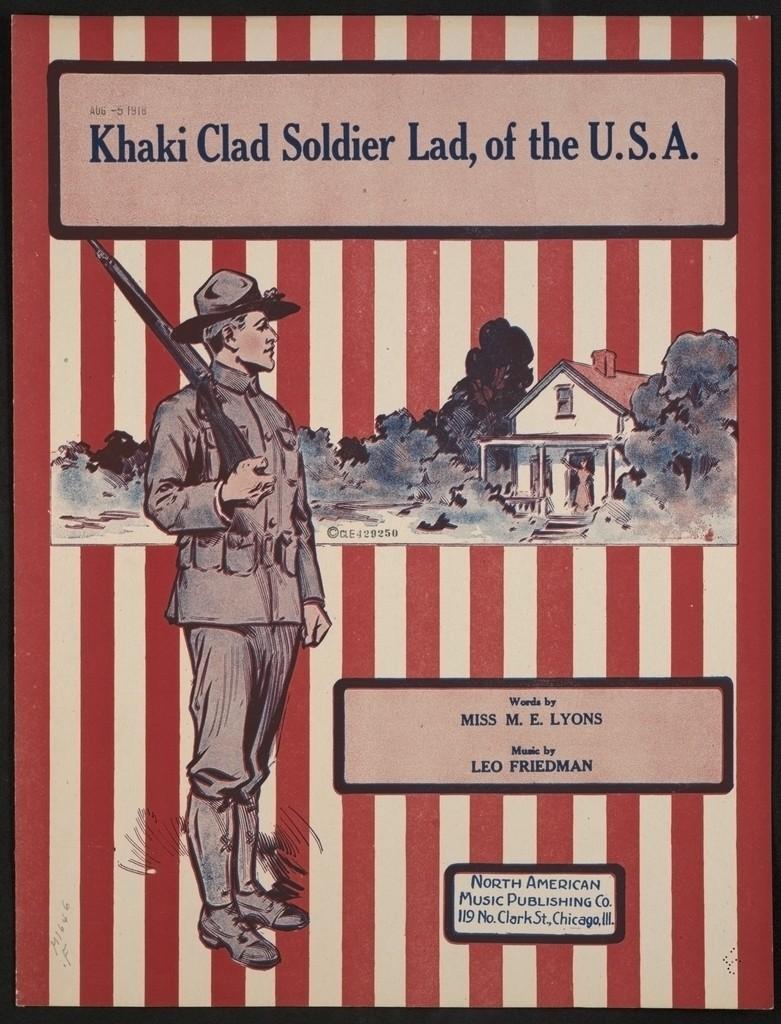 Khaki clad soldier lad, of the U.S.A