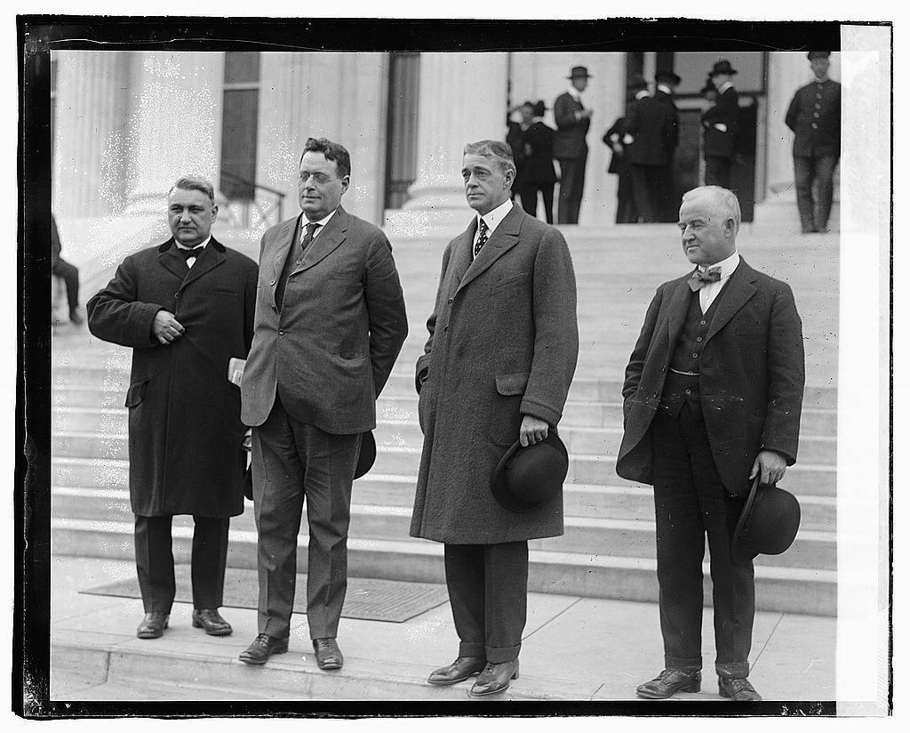 L to R: A.W. Calloway, Thos. F. Brewster, A.R. Hamilton, O.H. Robbins
