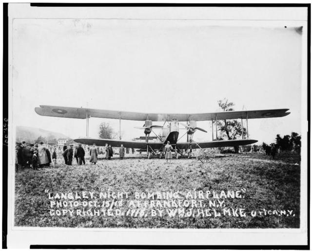 Langley night bombing airplane. Photo, Oct. 15/18 at Frankfort, N.Y.