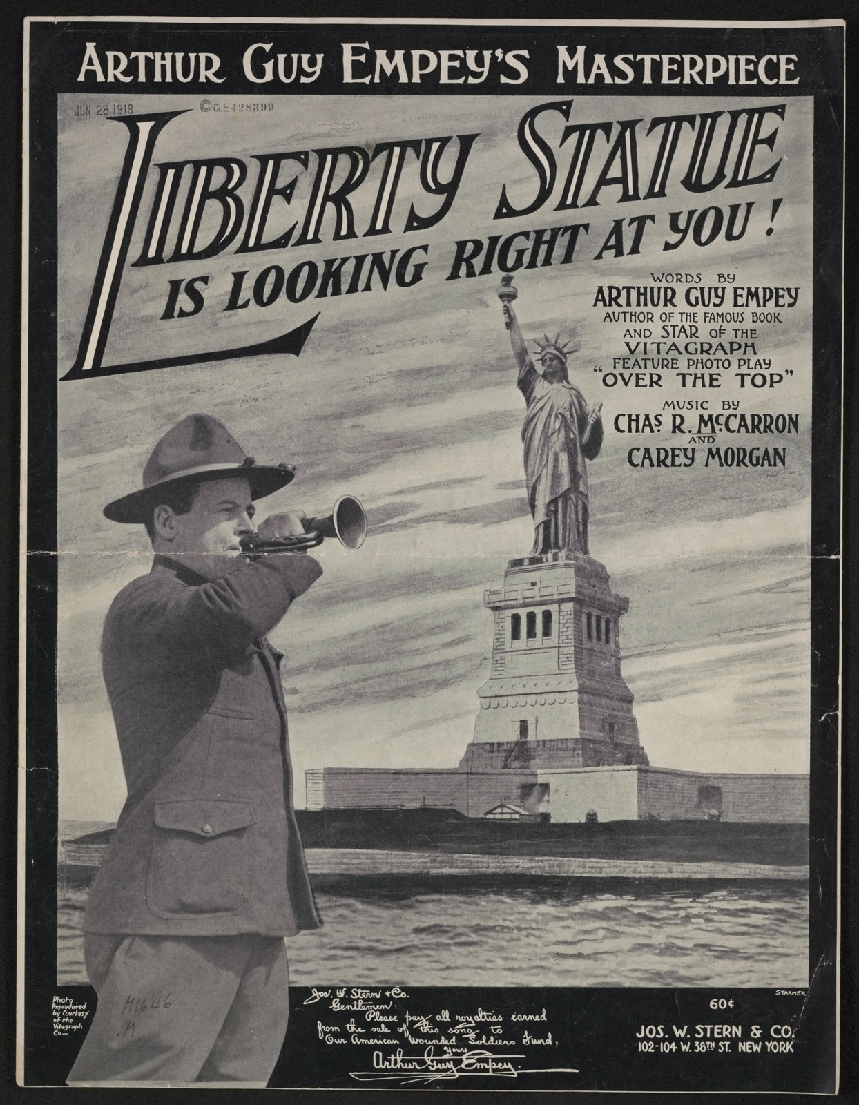 Liberty statue is looking right at you!