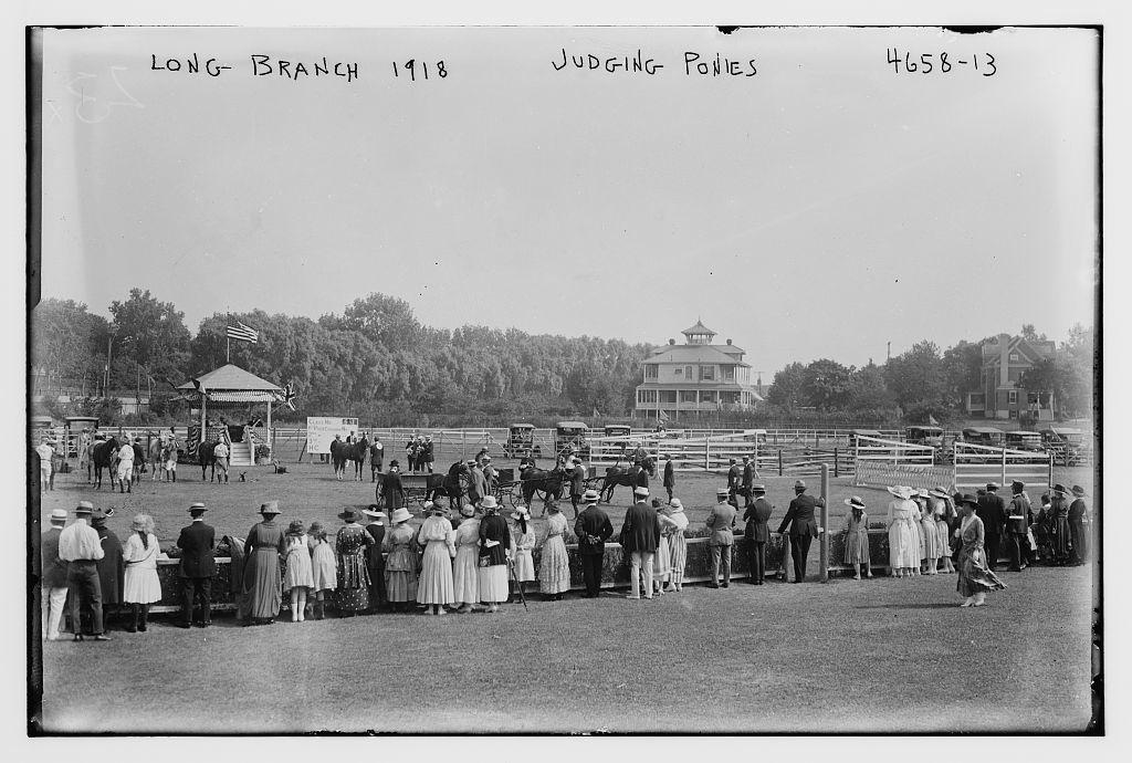 Long Branch, 1918, judging ponies, 1918