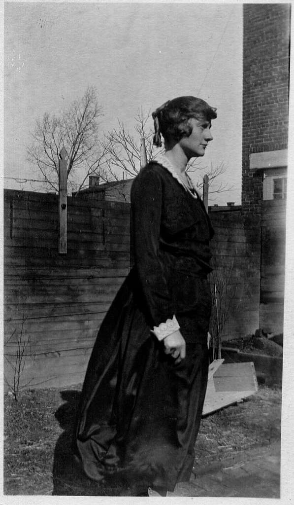 Louise Mulligan in dress