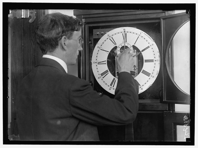 NAVAL OBSERVATORY. C.B. WATTS TURNING BACK THE CLOCK