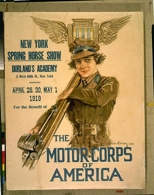 New York Spring horse show, Durland's Academy ... New York, April 29, 30, May 1, 1919, for the benefit of the Motor-corps of America / Howard Chandler Christy.