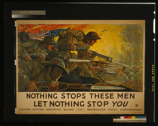 Nothing stops these men, let nothing stop you / H. Giles '18 ; John H. Eggers Co. Inc., New York.