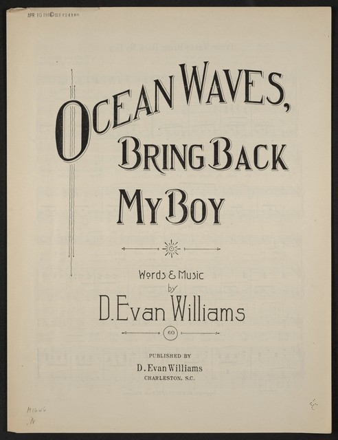 Ocean waves, bring back my boy