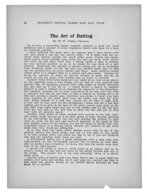 Official indoor base ball guide containing the constitution, 1918