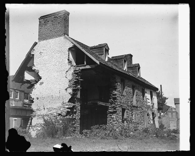 Old ruins on banks of Shenandoah, Harpers Ferry, [West Virginia]