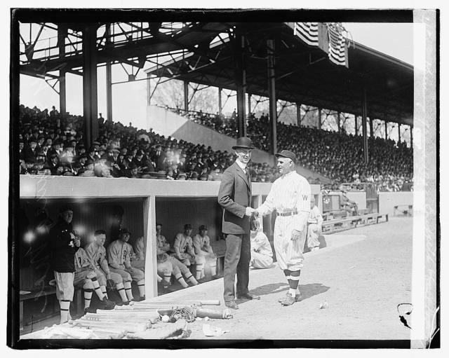 Opening game, 1919 - Griffith & Connie Mack