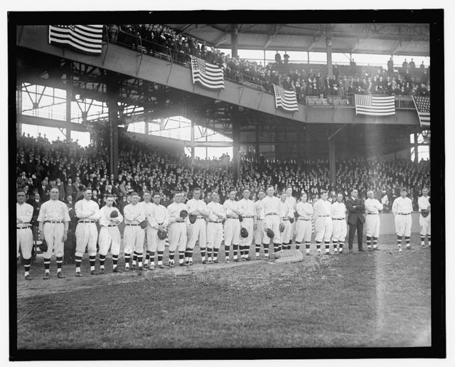 Opening of ballgame, 1918
