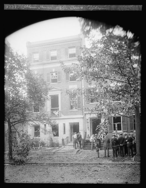 Palmer house after bomb explosion