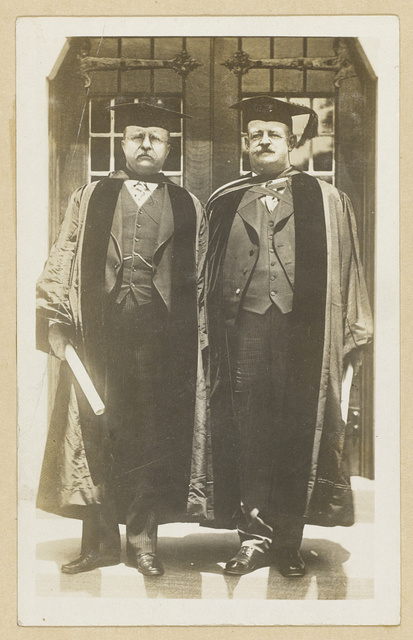 Photo made just after the degree of Doctor of Science had been conferred on Col. Theodore Roosevelt  and Russell J. Coles.
