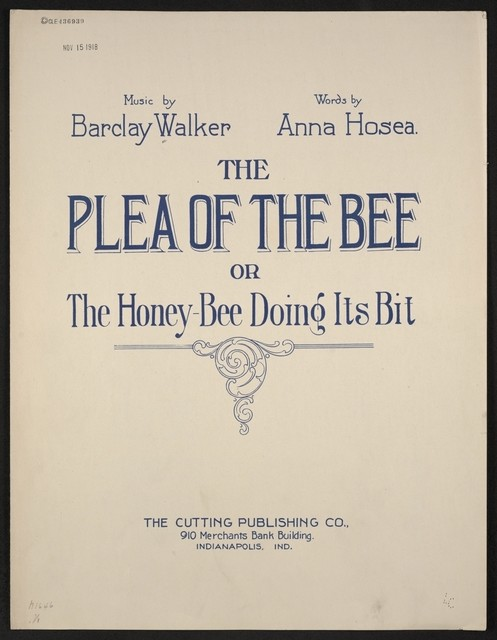 Plea of the bee, or The Honey-bee doing its bit