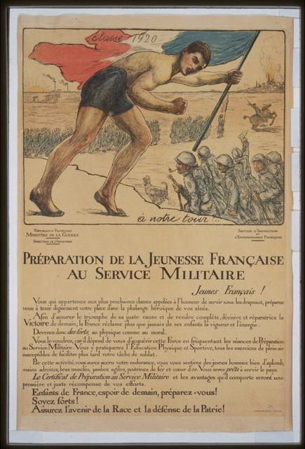 Préparation de la jeunesse française au service militaire