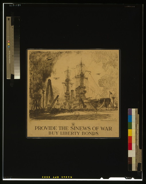 Provide the sinews of war, buy Liberty Bonds / Joseph Pennell del. ; Heywood Strasser & Voigt Litho. Co. N.Y. Imp.