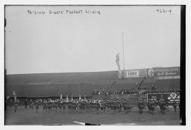 Raising Giants pennant, 6/14/18