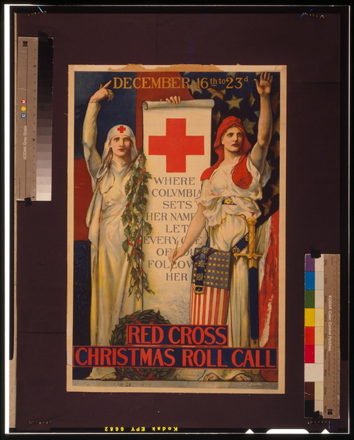 Red Cross Christmas roll call December 16th to 23rd / / E. H. Blashfield 1918.