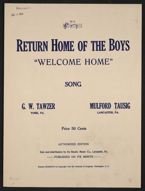 Return home of the boys welcome home