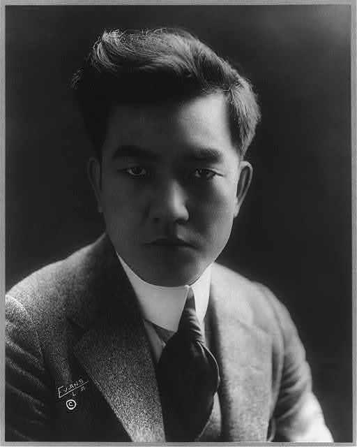 [Seussue Kintaro Kayakawa, 1889-1973, bust portrait, facing right]