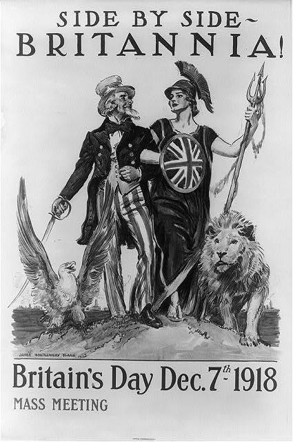 Side by side - Britannia! Britain's Day Dec. 7th 1918 / James Montgomery Flagg 1918 ; American Lithographic Co. N.Y.