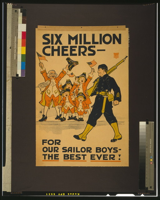 Six million cheers - for our sailor boys - the best ever!