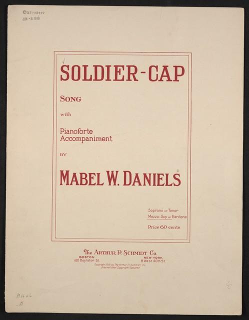 Soldier-cap song : (the scarlet cap)