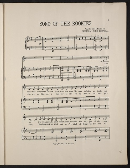 Song of the rookies