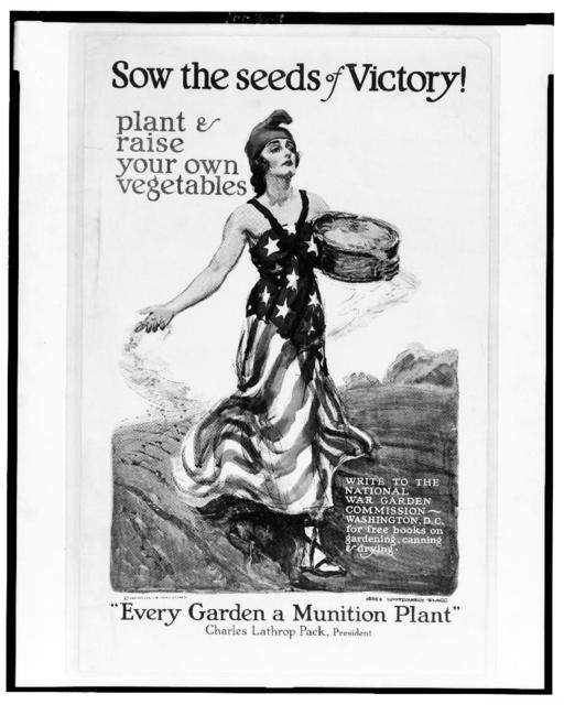 Sow the seeds of victory! Plant & raise your own vegetables / James Montgomery Flagg.