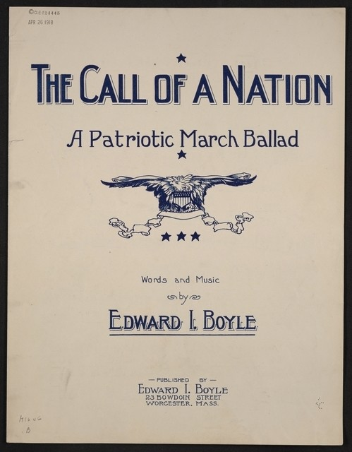 The  call of the nation a patriotic march ballad