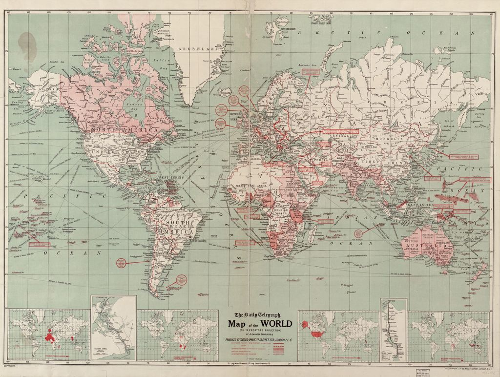 The Daily Telegraph map of the world on Mercator's projection /