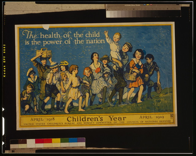 The health of the child is the power of the nation Children's year, April 1918 - April 1919 / / F. Luis Mora.