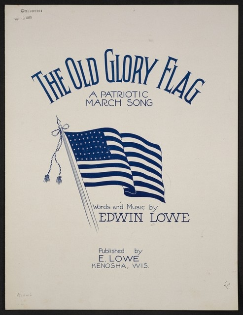 The  old glory flag a patriotic march song