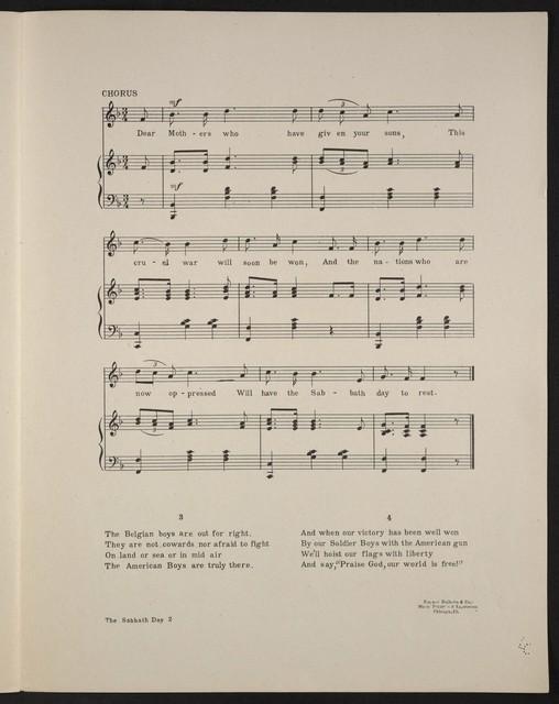 The  Sabbath day patriotic song
