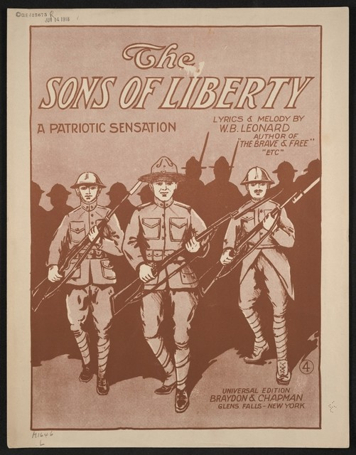 The  sons of liberty a patriotic sensation