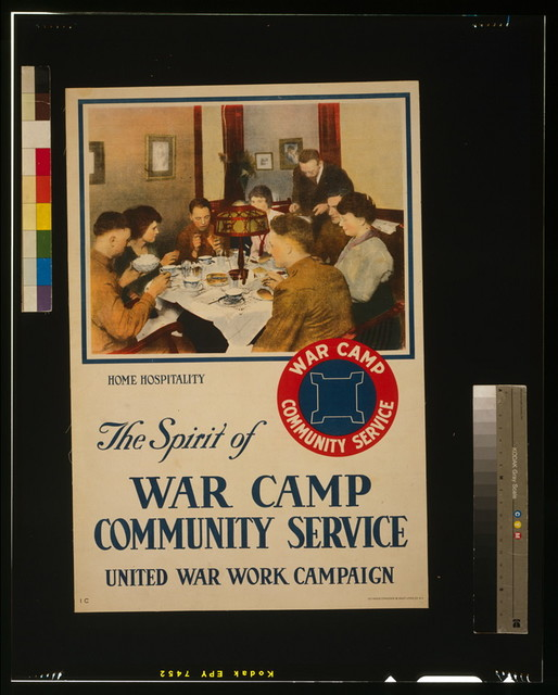 The spirit of war camp community service, United War Work Campaign / Heywood Strasser & Voigt Litho. Co. N.Y.