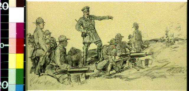 The Virginian eased the pressure of his finger.  A British officer stepped forward and spoke sharply in instruction