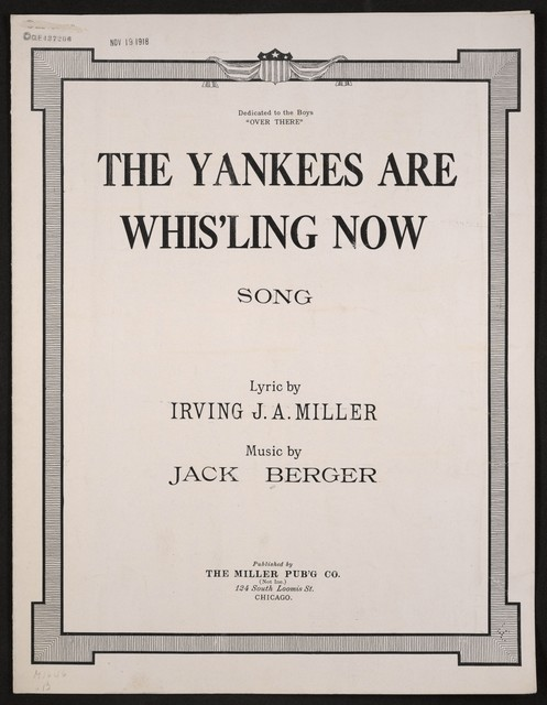 The  Yankees are whis'ling now song