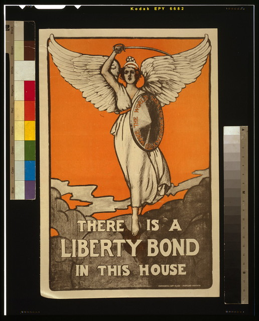 There is a Liberty Bond in this house / Commercial Art Class, Maryland Institute.