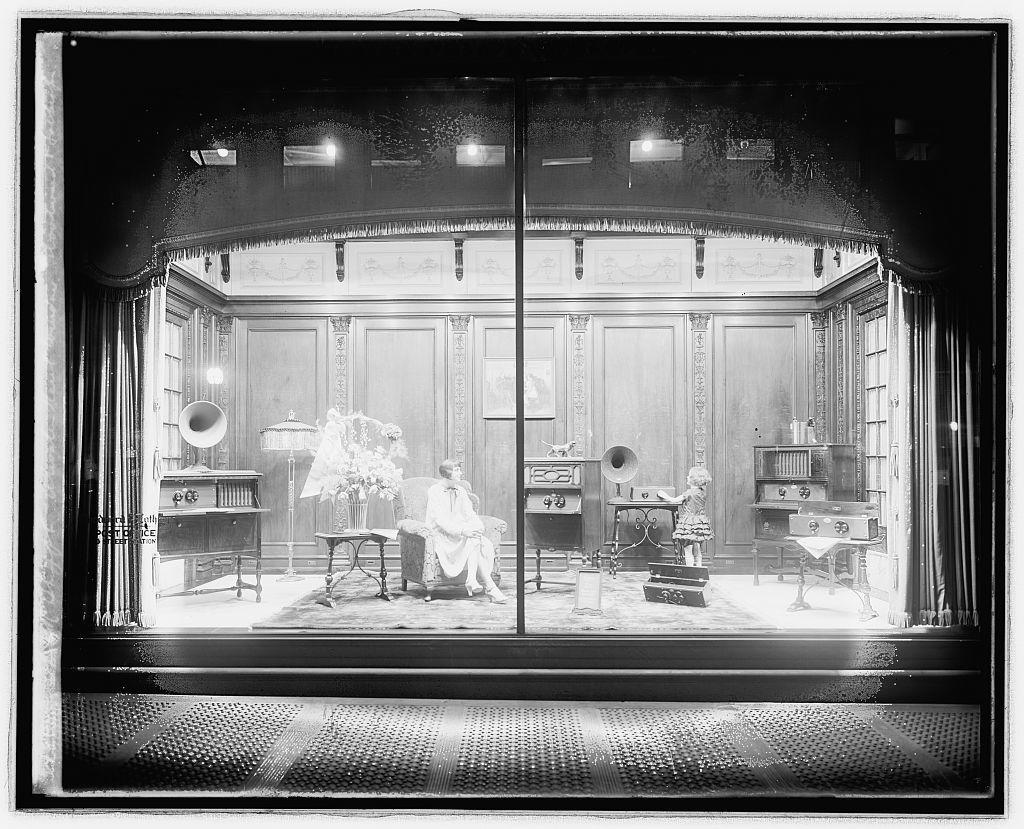 Thos. R. Shipp Co. Atwater Kent window. Woodward & Lothrop