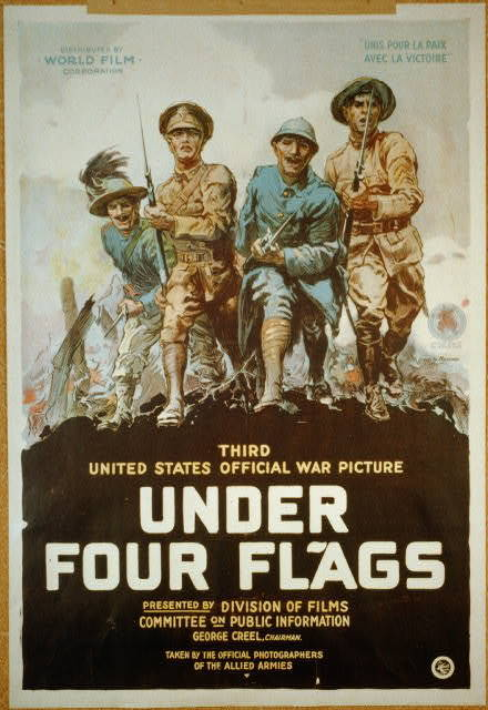 Under four flags Third United States official war picture.