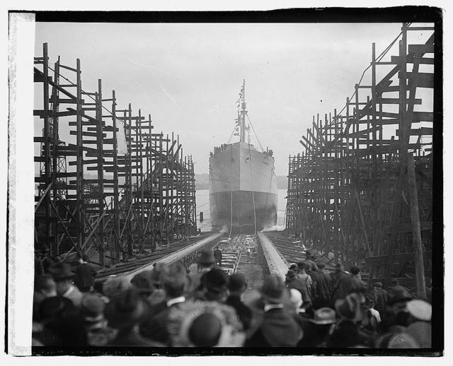 Va. Ship launching of E.A. Morse