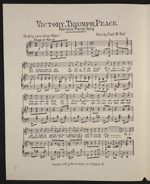 Victory, triumph, peace