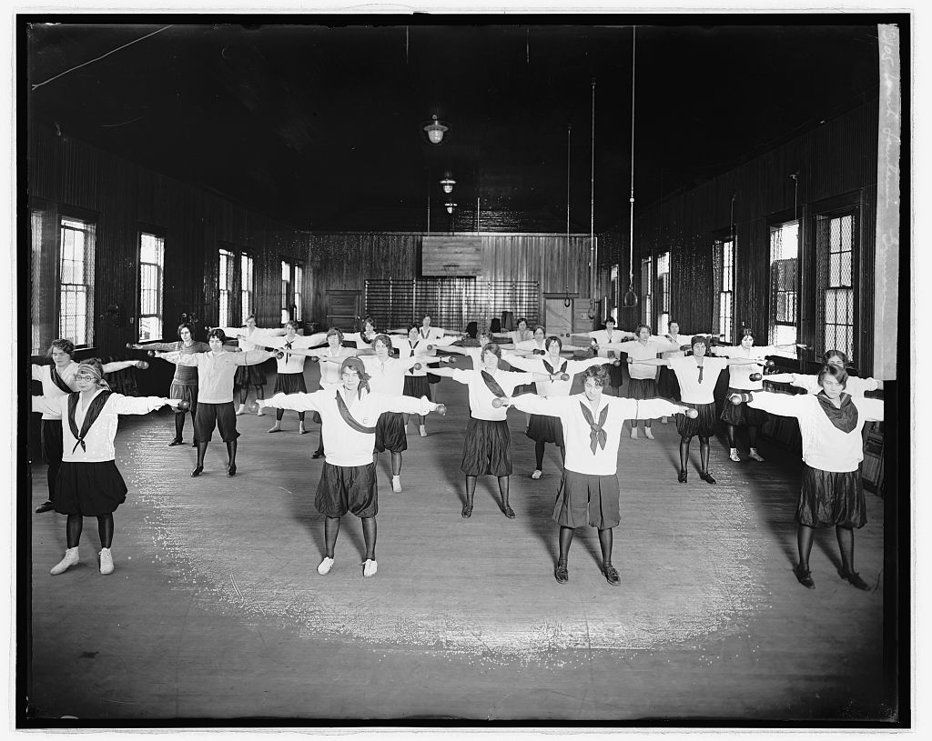 Wash. Sanitarium, [Takoma Park, Maryland], gymnasium