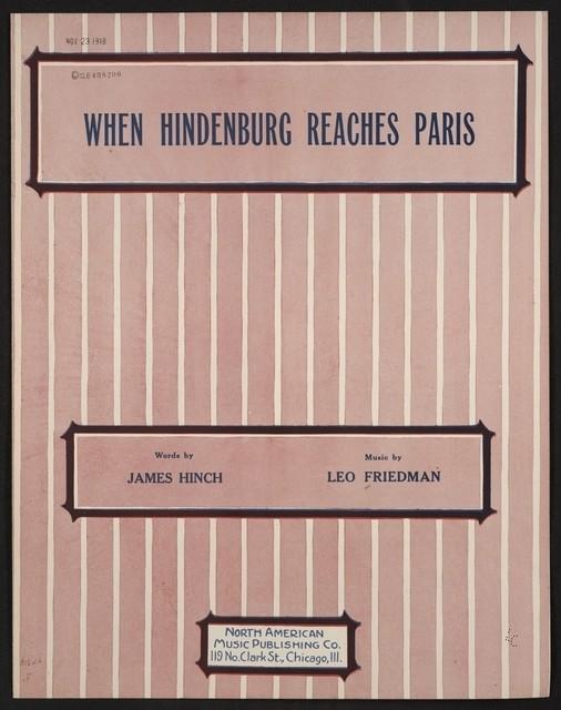 When Hindenburg reaches Paris