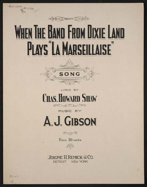 """When the band from Dixie Land plays """"La Marseillaise"""" song"""