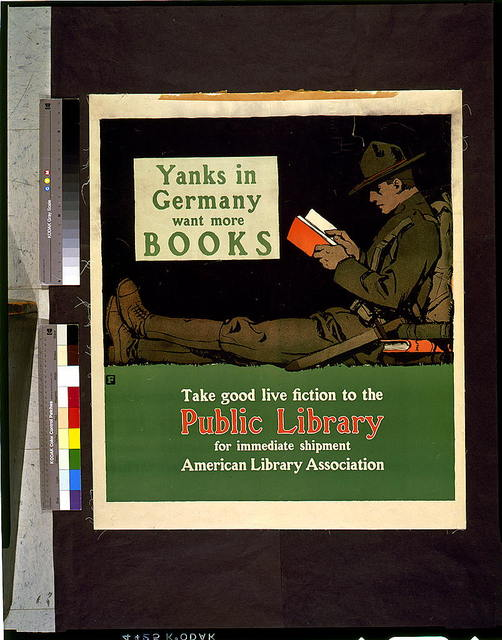 Yanks in Germany want more books. Take good live fiction to the public library for immediate shipment / F.